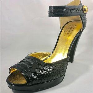 Gorgeous Coach Claribel Peep Toe Heel